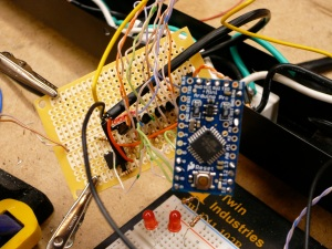 Arduino wired to transistors